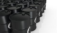 oil barrels - stock illustration
