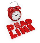 Deadline Stock Illustration