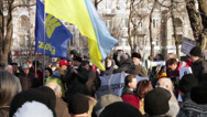 Stock Video Footage of Protest action in Dnepropetrovsk