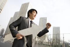 Businessman on the move Stock Photos