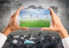 Sustainable development Stock Illustration