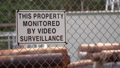Area monitored by video surveillance Stock Footage