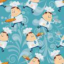 Stock Illustration of cook, seamless pattern