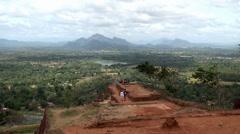 Bird's-eye view from the Sigiriya mount (Lion rock). Sri Lanka. Stock Footage