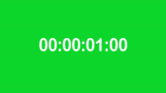Time Counter with Greenscreen Stock Footage
