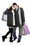 Young couple shopping Stock Photos
