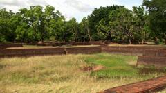 Sigiriya gardens. Sri Lanka. Stock Footage
