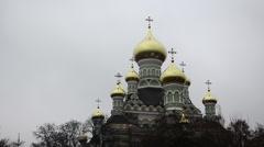 Nikolas Church of Holy Protection Nunnery Stock Footage