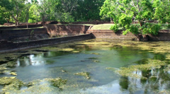 Pool of the Sigiriya water gardens. Sri Lanka. Stock Footage