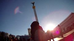 Kyiv, maidan Stock Footage