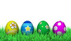 easter eggs decoration - stock illustration