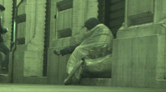 Homeless man begging (Infrared Night Vision)# Stock Footage