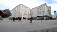 Stock Video Footage of General view of the historical center of Salzburg, Austria