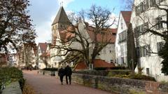 Germany, ulm street Stock Footage