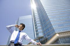 Stock Photo of Businessman in an urban scene