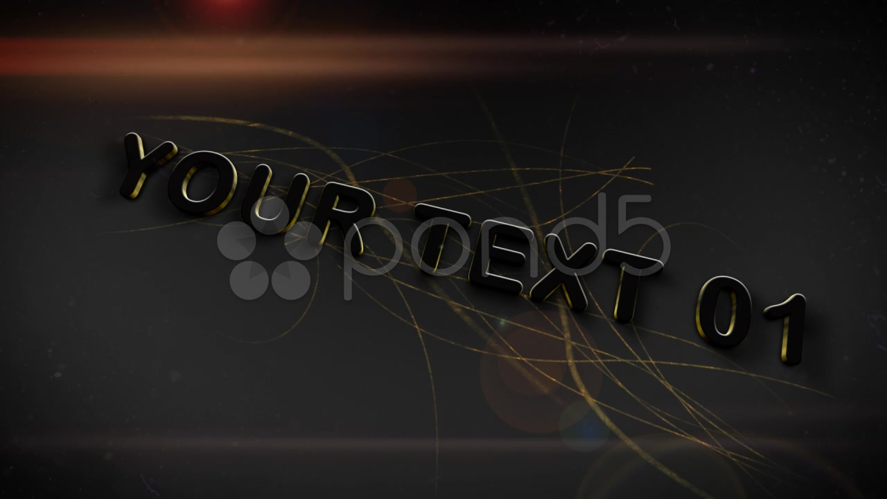 After Effects Project - Pond5 Gold 3D Text 33119317
