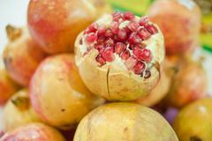 poke pomegranate - stock photo
