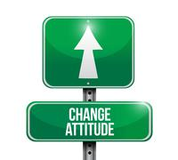 Change attitude road sign illustration design Stock Illustration