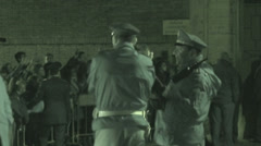 Pope Francis secret visit to convent 1 (Infrared Night Vision) Stock Footage