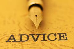 Fountain pen on advice Stock Photos