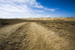Dirt road in a wilderness area in Qinghai province, China Stock Photos