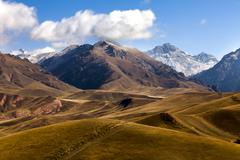 Scenery of Qilian mountain in Qinghai province, China Stock Photos