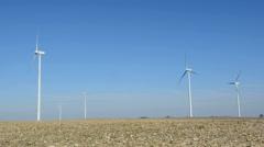 Wind Turbines 1 - stock footage