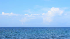 Perfect Calm Sea Horizon with sky and clouds. Stock Footage