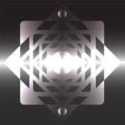 Futuristic beams bright abstraction square metal Stock Illustration
