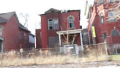 Detroit Ghetto Driving 4 Stock Footage
