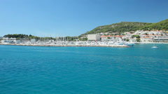 View of Croatian coast from ferry Stock Footage