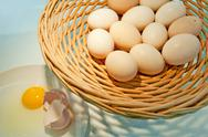 Stock Photo of basket of eggs