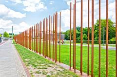 memorial to Berlin Wall in Bernauer Strasse. Berlin - Germany - stock photo