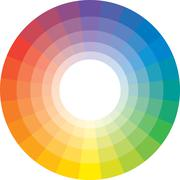 multicolor spectral circle from 24 segments - stock illustration