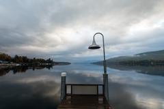 lake george at sunrise - stock photo