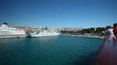 Split harbour Stock Footage