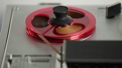 Reel to Reel tape recorder (Vintage) - stock footage