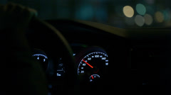 Driving a car. Stock Footage