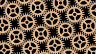 Stock Video Footage of Wooden cogwheels