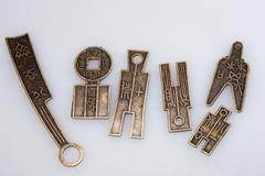 Ancient Chinese metalwork Stock Photos