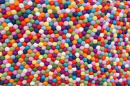 Stock Photo of multicolor balls of wool