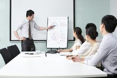 Business Executive Esittäminen Business Team Kuvituskuvat