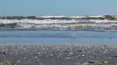 Louisiana Beach Waves Stock Footage