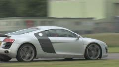 Audi R8 pan - stock footage