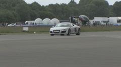 Audi R8 pan Stock Footage
