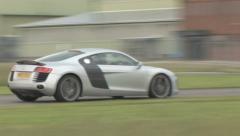Audi R8 on track. Stock Footage