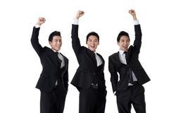 Stock Photo of Businessmen in celebration