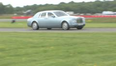 Bentley on track Stock Footage