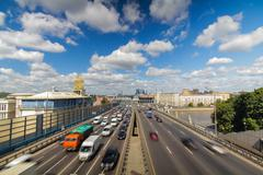Moscow highway third ring - stock photo