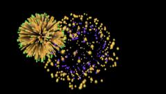 Fireworks loop - stock footage